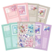 Hunkydory Floral Shimmer Pyramount Pop-Out Window Specialty Card Kit -- Makes 4