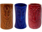 Tiki Shot Glasses 60ml Comes with Brown, Blue, and Red by KC Hawaii