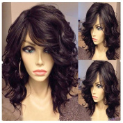 Best-Selling 6A Natural Wave Lace Front Wigs Brazilian Virgin Bob Wavy Human Hair Wig Glueless Lace Front Wig with Bangs for Women