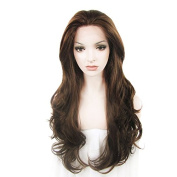 Synthetic Lace Front Wig Extra Long Light Wave Brown