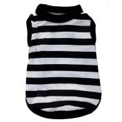 Pet Clothes,Haoricu Black And White Stripes Stretch Vest Dog Pet Clothes Clothing Small Coat Dog Vest