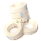 Baisidai 5 Rolls Medical Tape for Individual Eyelash Extension Supply 2 Styles for Chosing