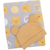Adorable Disney Baby Winnie the Pooh Blanket/Beanie Gift Set
