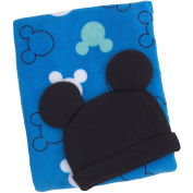 Adorable Disney Baby Mickey Mouse Blanket/Beanie Gift Set