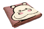 Happy Hippo - 100% Cotton Baby Blanket by Pink Lemonade