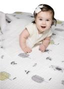 Best Toddler Blanket 100% Organic Muslin Cotton by Clover & Sage