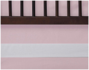 Oilo Woven Cotton Band Crib Skirt, Blush