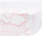 Oilo Capri Crib Sheet, Blush