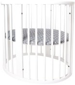 Oilo Stokke Sleepi Finn Crib Sheet, Charcoal