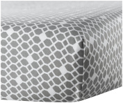 Oilo Diamond Crib Sheet, Stone