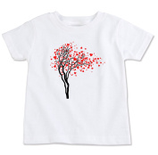 Love Hearts Tree Organic Cotton Toddler T Shirt