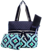 Quilted IKAT 3pc Nappy Bag Set