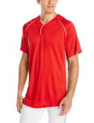 Wilson Sporting Goods Double Bar Mesh 2-Button Jersey, Adult Large, Scarlet