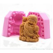 Lingmoldshop 3D God of Longevity Craft Art Silicone Soap Mould DIY Candy Mould Craft Moulds Handmade Candle Moulds