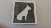12 x French Bulldog dog stencils for etching on glass gift present glassware hobby craft Frenchie