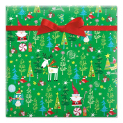 Whimsy Santa & Reindeer Gift Wrap - 6.7sqm