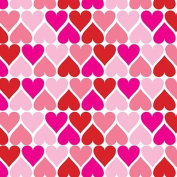 Heartbeat Valentine's Print Gift Wrap Roll - 60cm x 4.6m