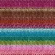 Noro Silk Garden Lite, 2170 - Orchid-Forest-Brown-Aqua-Rose