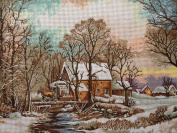 "Needlepoint Kit ""The Mill"" 15.7""x11.8"" 40x30cm printed canvas 117"