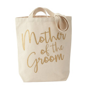Mud Pie Canvas Mother of The Groom Tote Bag, His Mom