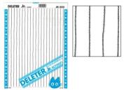 "Deleter Screen Tone Jr JR-503 [ Vertical Crooked Line Pattern ] [Sheet Size 182x253mm (7.16""x9.96"")] For Comic Manga Illustration"