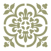 J BOUTIQUE STENCILS Damask Wall Stencil - Medium Size - Reusable Stencil for Home DIY decor FAUX MURAL V0013