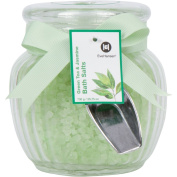 Large 740ml Spa Bath Salts in Beautiful Glass Jar - Best for a Relaxing & Soothing Bath Soak. Skin Nourishing Blend of Natural Sea Salts and Exotic Scents. Great for Gift