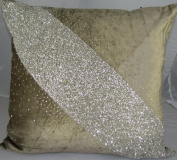 Jewel Pathway Velvet Pillow Light Brown - 50cm x 50cm .