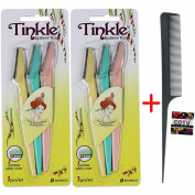 *Authentic Genuine* Tinkle Eyebrow Razor(6 pcs) + COTU (R) Hair Comb