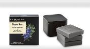 L'Erbolario Black Juniper Perfumed Soap 3x100 Grammes 'Ginepro Nero Sapone Profumato in scatola di latta ed. limitata 100 g