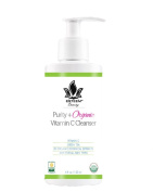 Purity + Organic Vitamin C Cleanser - 100% Certified Organic Holistic Face Wash - Paraben Free and Sulphate Free