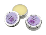 Artisan Jojoba Oil Lavender Hand Salve scented with fresh Lavendar Blossoms, All Natural and Hand Made, .150ml (14 gm), 2 pack