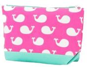 Pink Whales Cosmetic Bag, Organiser, Pencil Bag 24cm