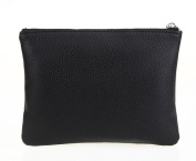 LOUISE MAELYS Double Layers Zipper Cosmetic Bag Makeup Brush Holder Bag