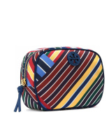Tory Burch Ella Blanket Diagonal Stripe Make Up Cosmetic Case