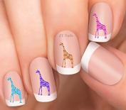 Giraffe Design #3 Nail Art Decals