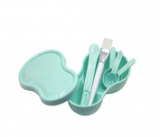 DIY 7 in 1 Facial Skin Care Homemade Mask Mixing Bowl Measuring Spoon Skin Treatment Brush Powder Puff Set for Lady Women DIY Cosmetic Tool