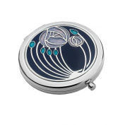 Compact Mirror - RENNIE MACKINTOSH Two Roses Design - Purple/Lilac/Aqua by Really Nice