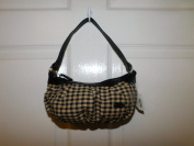 Longaberger Khaki Cheque Fabric Girls Bag Purse