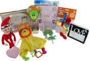Baby's 1st Christmas Gift Set - 10 Girl Gifts, Plaques, Toys And Keepsakes