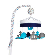 Just Born High Seas Musical Mobile, Whales Blue and Grey Anchors by Just Born