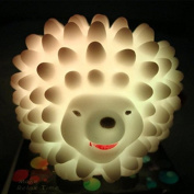 Hedgehog Night Light Cute And Creative Style Easy Convenient To Use Led Colourful Electronic Components With 3Pcs AG13 Batteries