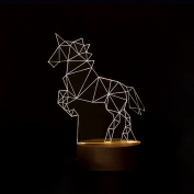 Unicorn Lamp 3d Led Acrylic + Plastic Animal Environmentally Friendly Glowing Leds At Night