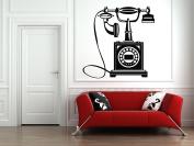 Wall Vinyl Sticker Decals Mural Room Design Art Decor Retro Telephone Vintage bo1719