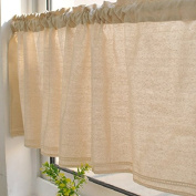 Modern Cotton Lace Rod Pocket Window Valances for Home Decor 130cm x 41cm