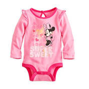 Disney Minnie Mouse Baby Girls' Bodysuit Dress Up Outfit 0-3 Months Pink