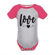 Custom Party Shop Kids Love Heart Happy Valentine's Day Pink Onepiece