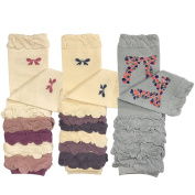 Wrapables Colourful Baby Leg Warmers Set of 3
