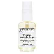 Premier Lavender Spray, 30ml Glass Spray Bottle - Exquisite Quality, Undiluted Pure Essential Oil of Lavender from Bulgaria