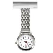 TRIXES Nurse Stainless Steel Quartz Silver Fob Watch